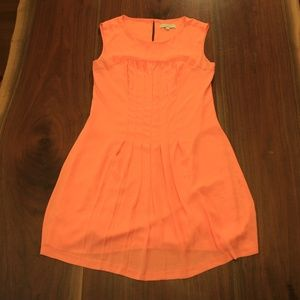Ann Taylor Loft Orange Dress 10